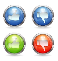 Like Unlike Button vector image