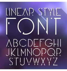 Linear font high tech cosmic style font vector