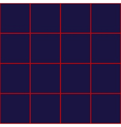 Red grid square royal blue background vector