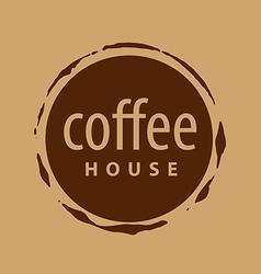 Round logo imprint of coffee vector