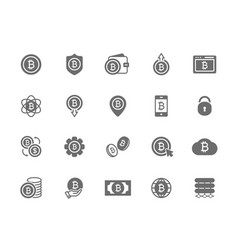Set of bitcoin symbol or icon investments vector
