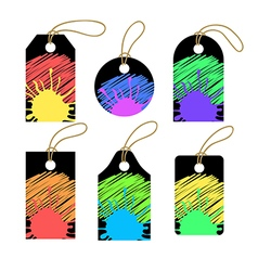 Set of colorful tags vector