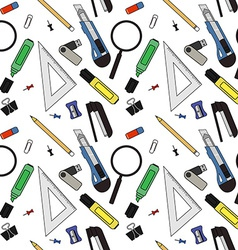 Stationery tools pattern vector