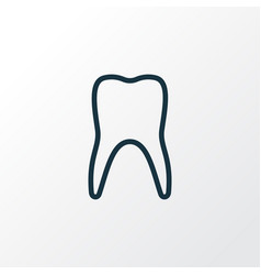 Tooth outline symbol premium quality isolated vector