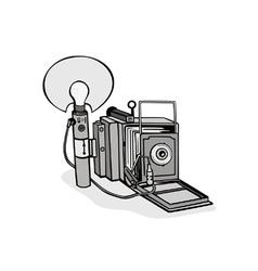 Vintage camera flash bulb vector