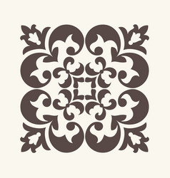 Vintage ornament for design vector