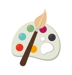 Icon palette paint brush color isolated vector