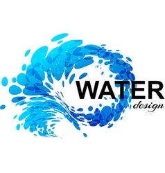 Splash water vector image
