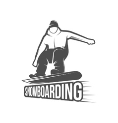 Snowboarding badges and logotypes vector