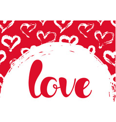 with hearts and love lettering vector image