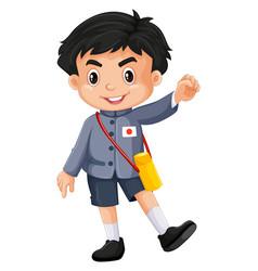 Japanese boy in kindergarten outfit vector