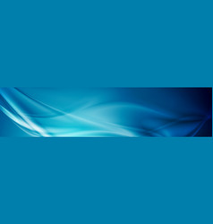 Abstract shiny bright blue waves banner design vector