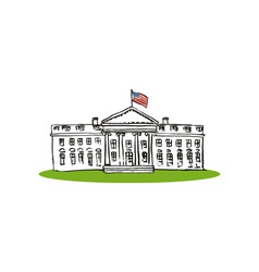 Whitehouse retro vector