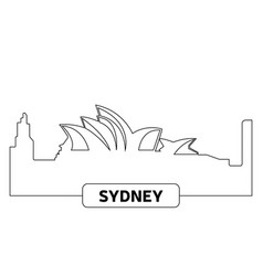 cityscape of sydney vector image
