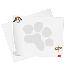 Empty paper templates with a head of a dog vector image