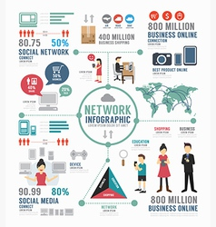 Infographic social network template design vector