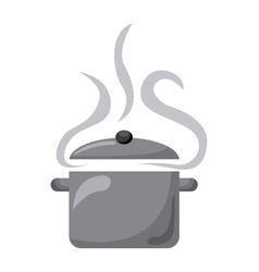 Pot cooking vector