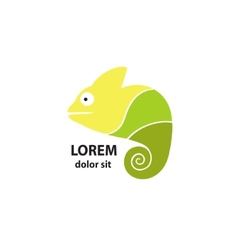 Stylized chameleon on a light background vector image