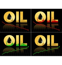 Crude oil price fall down abstract vector