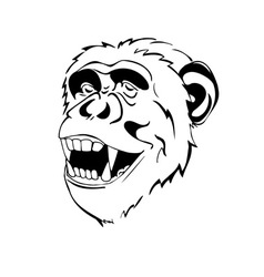 Head monkey logo vector