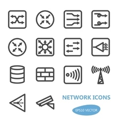 Network devices icon set vector