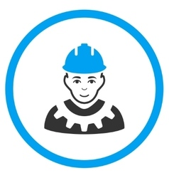 Industrial builder icon vector