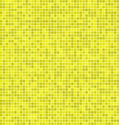 Yellow pixel mosaic background vector