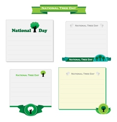 National tree day card vector