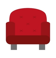 Red one seat sofa vector