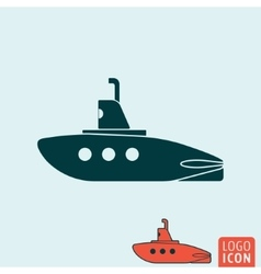 Submarine icon isolated vector