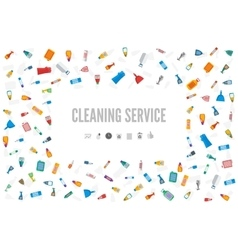 Web banner or gift card template for a cleaning vector