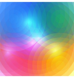 Abstract Rainbow Circles Background vector image vector image