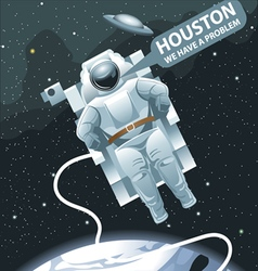Astronaut in spacesuit flying in space vector image vector image