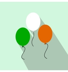 Balloons in irish colors flat icon vector image