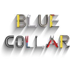 Blue collar vector