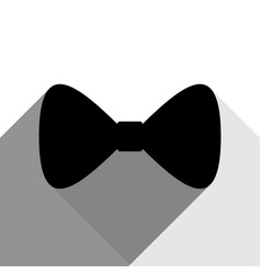 bow tie icon black icon with two flat vector image vector image