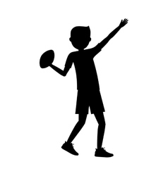 Boy playing american football design vector