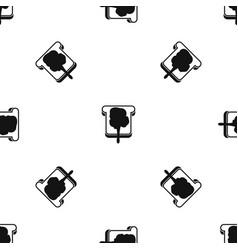 Bread pattern seamless black vector