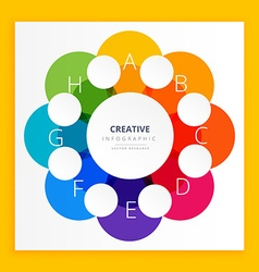 Colorful infographic design vector