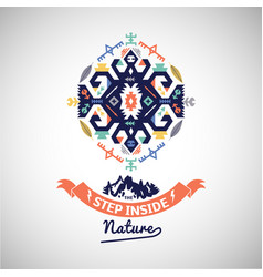 colorful tribal navajo style ornamental vector image vector image