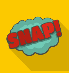 Comic boom snap icon flat style vector