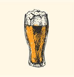 craft beer and pub sketch vector image vector image