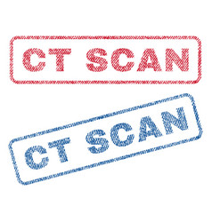 Ct scan textile stamps vector