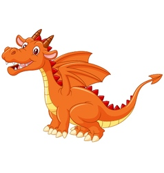 Cute dragon on white background vector