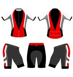 Cycling clothing vector