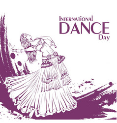 dance day tribal belly dance vector image
