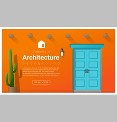 Elements of architecture front door background 9 vector