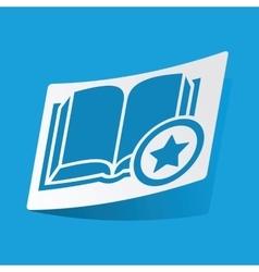Favorite book sticker vector