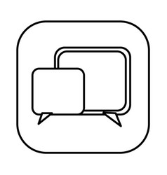 Figure symbol square chat bubbles icon vector