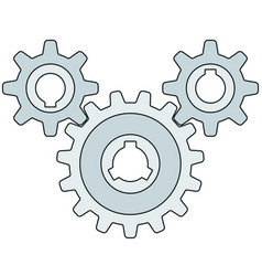 gear wheel transmission vector image